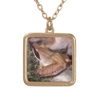 Wood Frog Gold Plated Necklace