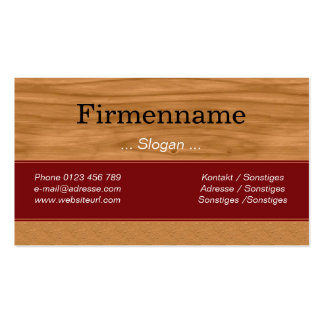 Wood Furniture Business Card Template