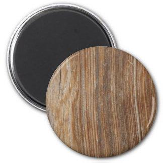 Wood Grain 2 Inch Round Magnet