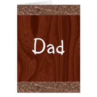 Wood Grain Abstract Card