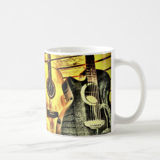 Wood Grain Acoustic Guitars Coffee Mug
