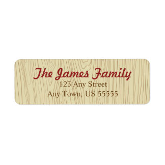 Wood grain Address Labels - Style 1