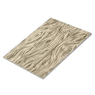 wood grain board planks notepad