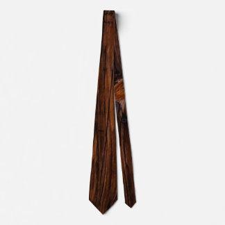 Wood Grain Brown Mens Tie