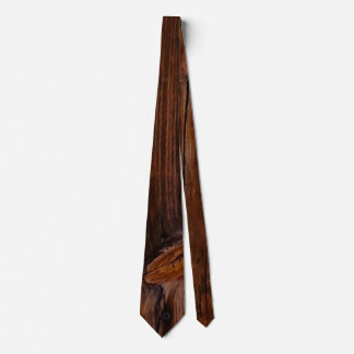 Wood Grain Brown Mens Tie 2