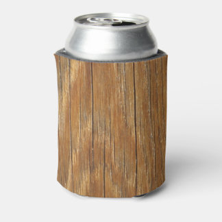 Wood Grain Can or Bottle Cooler