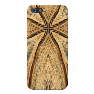 Wood Grain Cross iPhone Case