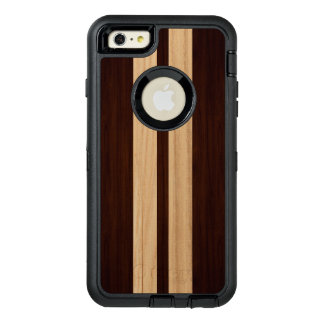 Wood Grain Dark and Light Stripes Stylish Look OtterBox Defender iPhone Case