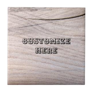 Wood Grain Design Ceramic Photo Tile