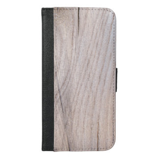 Wood Grain Design iPhone 6/6s Plus Wallet Case