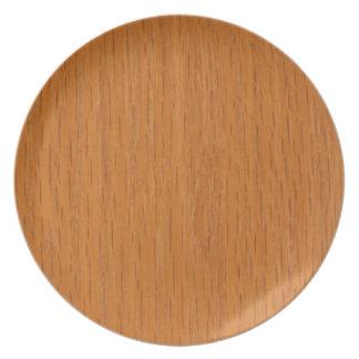 Wood Grain Dinner Plates