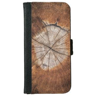 Wood Grain iPhone 6 Wallet Case