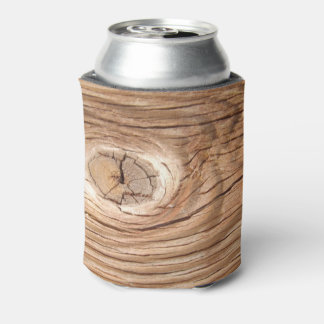 Wood Grain Knothole Can or Bottle Cooler