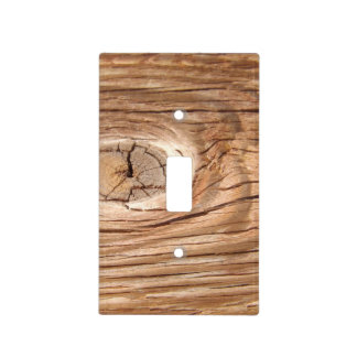 Wood Grain Knothole Light Switch Cover