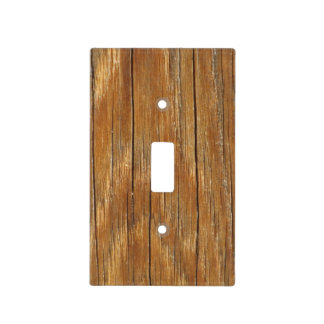 Wood Grain Light Switch Cover