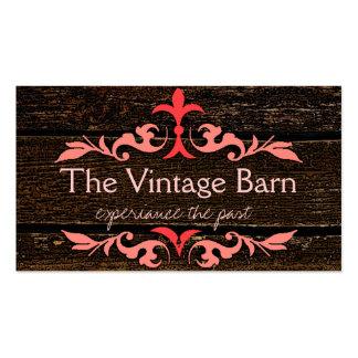 Wood Grain Look - Vintage Peach Scrolls Pack Of Standard Business Cards