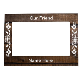 WOOD GRAIN MAGNETIC PICTURE FRAME