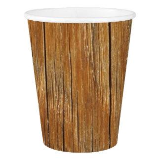 Wood Grain Paper Cup