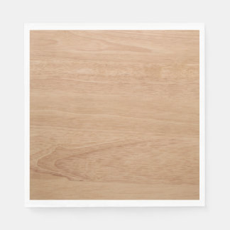 Wood grain paper napkins