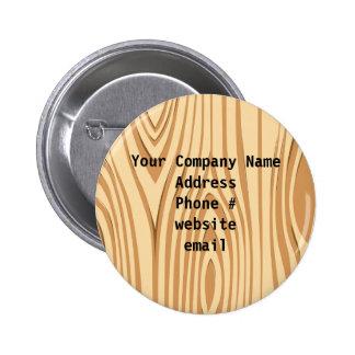 Wood Grain Pattern Company Information Button