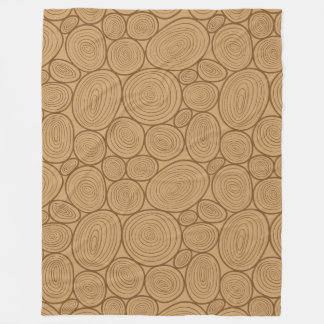 Wood grain pattern fleece blanket