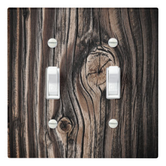 Wood Grain Pattern Light Switch Cover