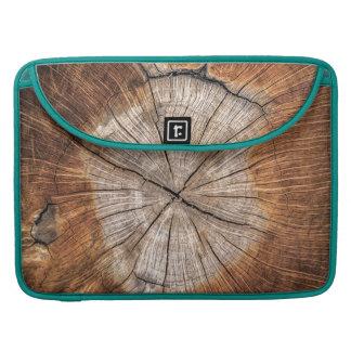 Wood Grain, peacock Sleeve For MacBook Pro