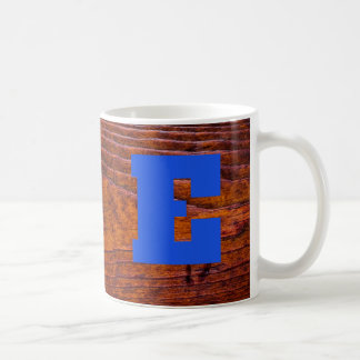 Wood Grain Photo Monogram Office Home Family Coffee Mug