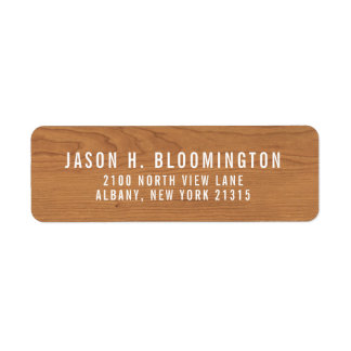 Wood Grain   Return Address Return Address Label