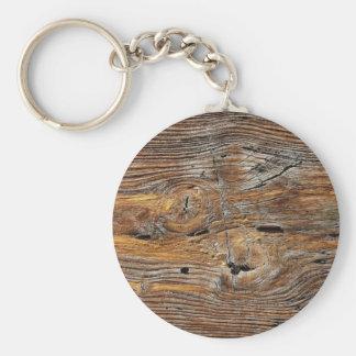 Wood grain, sheet of weathered timber keychain