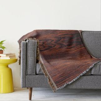 wood grain throw blanket