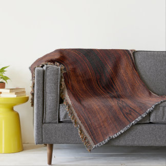 wood grain throw blanket