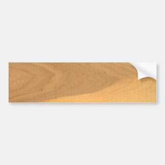 Wood grains on a sawn plank bumper sticker