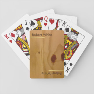 wood grains rustic & personalized playing cards