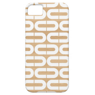 Wood graphic geometric abstract oval chain pattern iPhone 5 cover