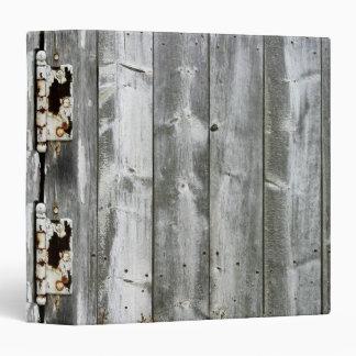 Wood Hinges Print Binder