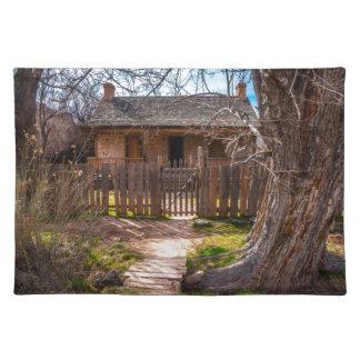 Wood Home - Grafton Ghost Town - Utah Place Mat