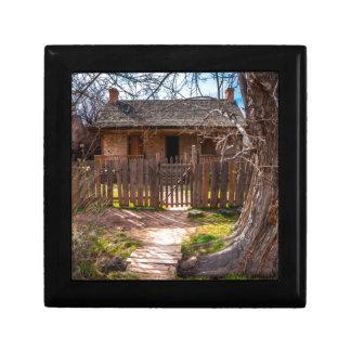 Wood Home - Grafton Ghost Town - Utah Trinket Boxes