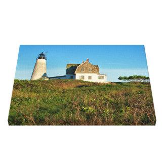 Wood Island Lighthouse Maine Wrapped Canvas