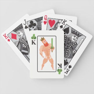 Wood king (king of clubs) bicycle playing cards
