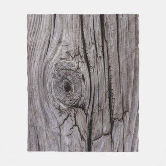 Wood Knot Wood Texture Fleece Blanket