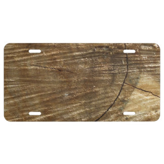 wood license plate
