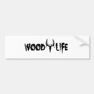 Wood Life Personalize Bumper Stickers