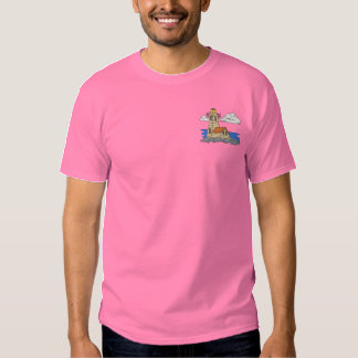 Wood Lighthouse Embroidered T-Shirt