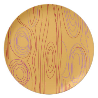 Wood lines, gold edition plate