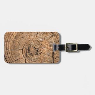 Wood Log Bag Tag