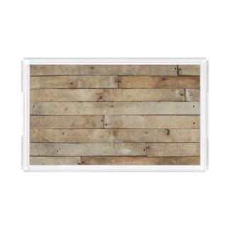 Wood Look Acrylic Tray