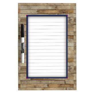 Wood Look Dry Erase Board