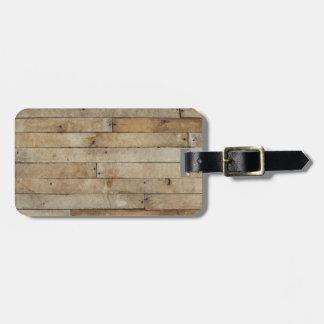 Wood Look Luggage Tag