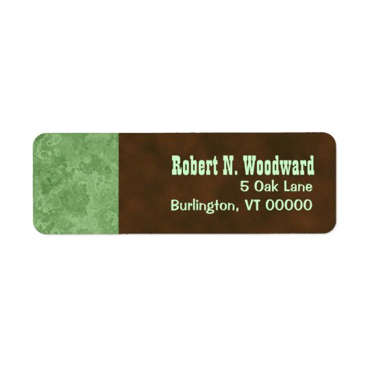 Wood Look Return Address Labels